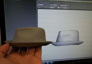 Un modello di cappello scannerizzato tramite il Photon 3D Scanner