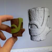 Scultura di un albero scannerizzata