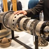 Uno dei motori stampati in 3D esposto all'International Air Show ad Avalon, Australia